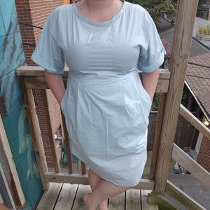 COS Blue Cotton Dress